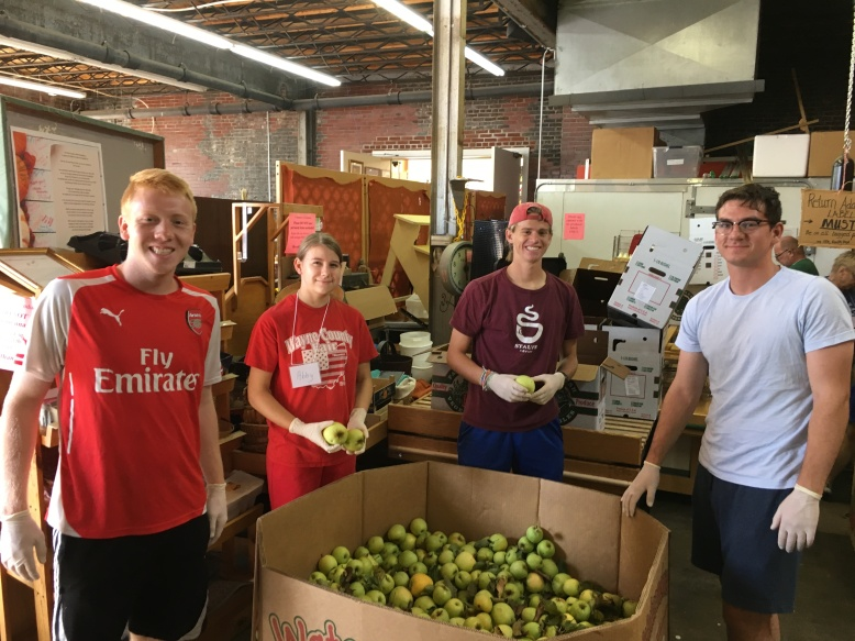 Apples and Youth Volunteers