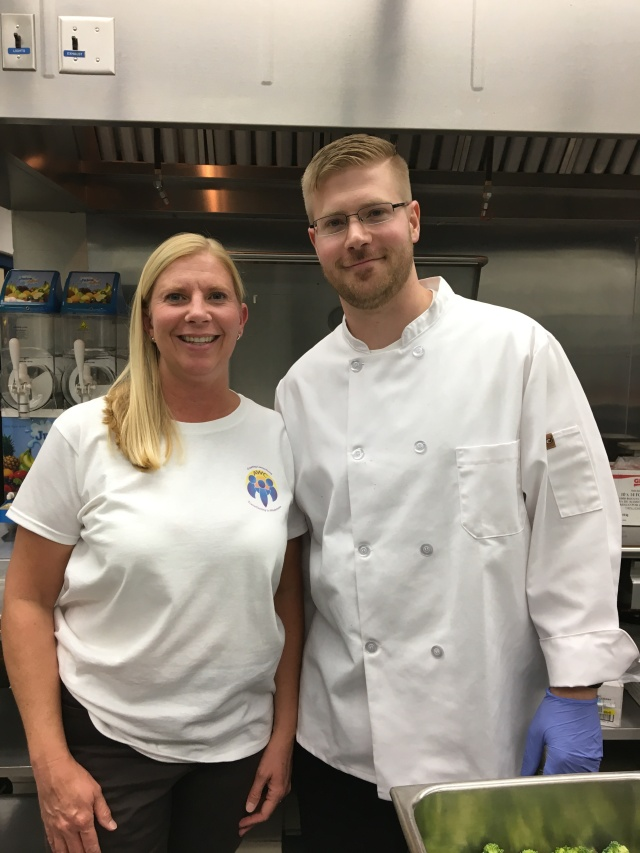 Chef Ben and Karen at NW School 10.4.17